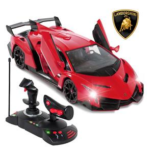 1/14 Kids Remote Control Lamborghini Veneno RC Toy w/ Gravity Sensor