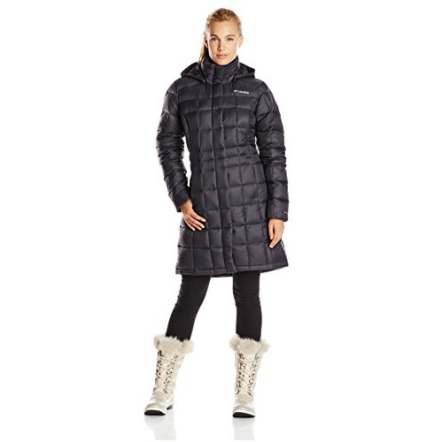 Columbia Women's Hexbreaker Long Down Jacket, Black, X-Small