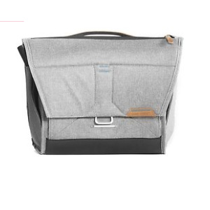 """Peak Design Everyday Messenger Bag for Smaller Body Types & Mirrorless Kits and Up to 13"""" Laptops, Ash"""