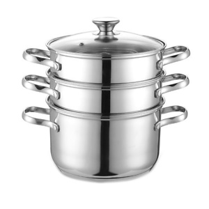 Cook N Home Stainless Steel Double Boiler and Steamer Set
