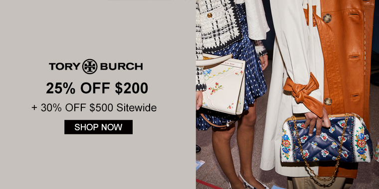 Tory Burch: 25% OFF $200 + 30% OFF $500 Sitewide