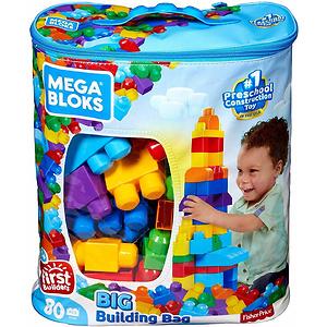 Mega Bloks First Builders 经典积木玩具80块装