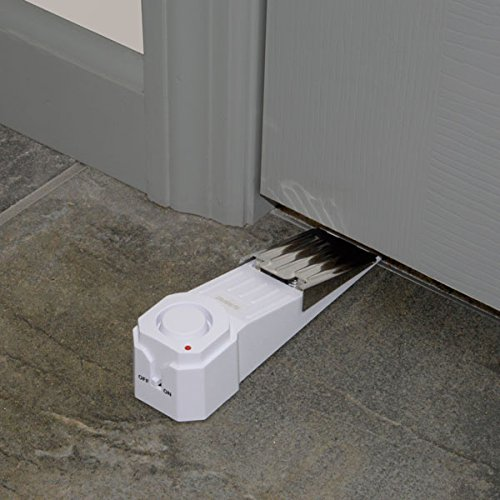 SABRE Wedge Door Stop Security Alarm with 120 dB Siren - Great for Home, Travel, Apartment or Dorm