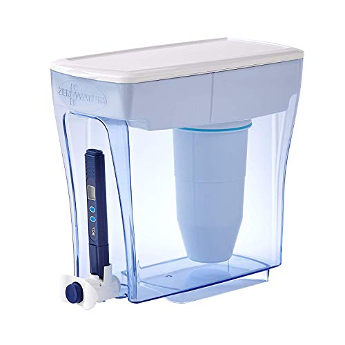 ZeroWater ZD-20RP-N 20 Cup Ready-Pour Dispenser Water Filter Pitcher, clear