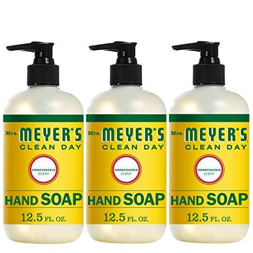 Mrs. Meyers 洗手液,金银花香味,12.5 oz/瓶,共3瓶