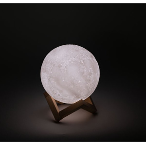 3D Printed Moon Lamp with Stand - 6 inches, Dimmable, Rechargeable, Touch LED Night Light