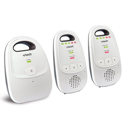 VTech DM112-2安全和声音数字音频婴儿监视器,带2个父母终端
