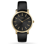 Metropolitan 34mm Leather Strap Watch