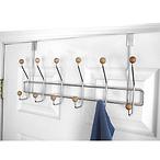 Home Basics Over the Door 6 Hook Hanging Rack