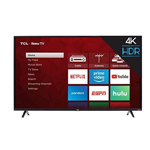 TCL 55S425 55吋 4K 超清晰 Roku 智能电视机