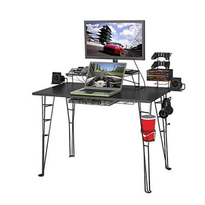 Atlantic Gaming Desk 33935701, Black Carbon Fiber