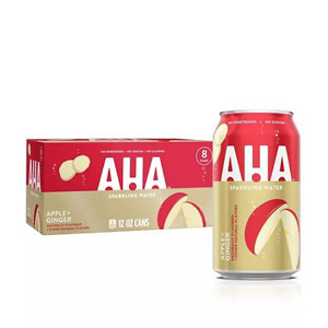 AHA Apple + Ginger Sparkling Water - 8pk/12 fl oz Cans