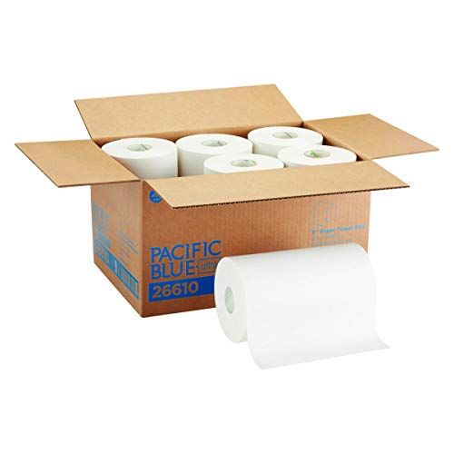 "Pacific Blue Ultra 9"" Paper Towel Roll (Previously Branded SofPull) by GP PRO (Georgia-Pacific), White, 26610, 400 Feet Per Roll, 6 Rolls Per Case $24.44"