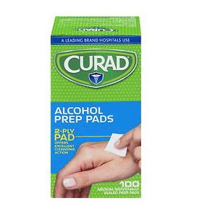 (6 pack) Curad Alcohol Prep Pads, 100 ct