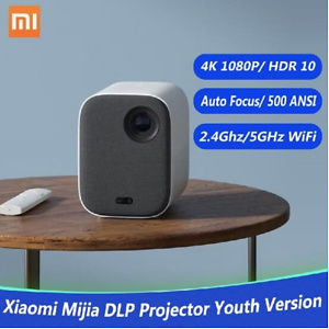 Xiaomi Mijia DLP Projector Youth Version 1080P 4K Video 500 ANSI Lumens Mount Projection HDR10 2.4G 5G WiFi 2GB+8GB Portable Proje