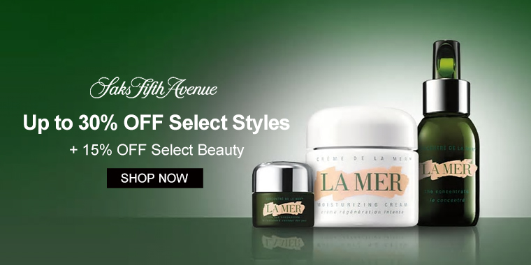 Saks Fifth Avenue: Up to 30% OFF Select Styles + 15% OFF Select Beauty