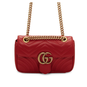 GUCCI Marmont GG mini leather cross-body bag