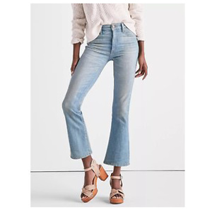 Bridgette High Rise Cropped Boot Jean In Seacliff
