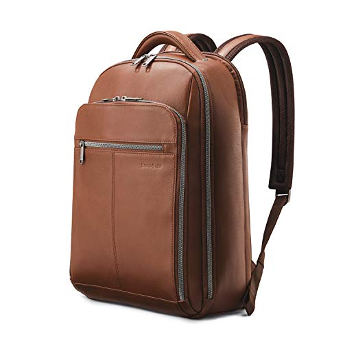Samsonite Classic Leather Backpack, Brown, One Size $92.30