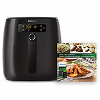 Philips Premium Digital Airfryer with Fat Removal Technology with Bonus 150+ Recipe Cookbook