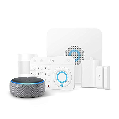 Ring Alarm 5 Piece Kit + Echo Dot (3rd Gen), Works with Alexa $179.00