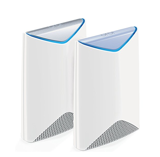 NETGEAR SRK60-100NAS Orbi Pro Tri-Band WiFi System for Business with 3Gbps speed (SRK60) | 2-Pack includes 1 router & 1 wall-mount satellite to cover up to 5,000 sq. ft., white
