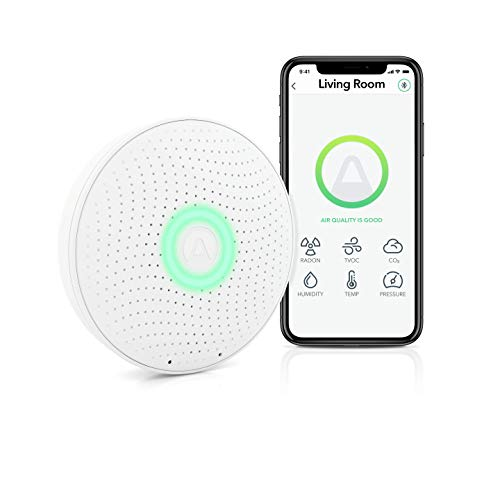 Airthings Wave Plus Radon & Air Quality Monitor (VOC, Humidity, Temp, CO2, Pressure)