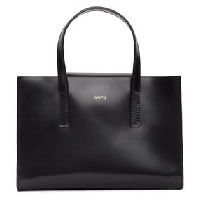 Juun.J  Black Square Crossbody Bag