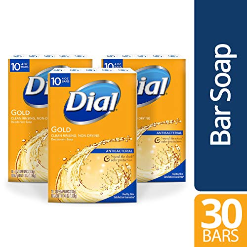 Dial Antibacterial Bar Soap, Gold, 30 Count $14.85