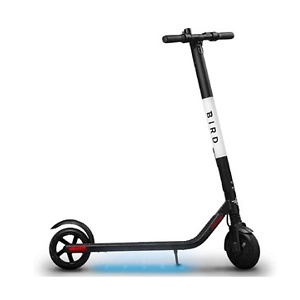Bird ES1-300 Electric Scooter-300 Watt Motor, Ground Effect Lights, Front Shock Absorption, UL-2272 Approved, 15.5 MPH and 15.5 Mile Range, Ultra-Lightweight, Electric Scooter for Adults