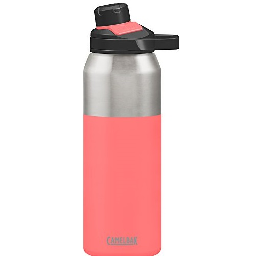 CamelBak Chute Mag Water Bottle, Insulated Stainless Steel, Coral