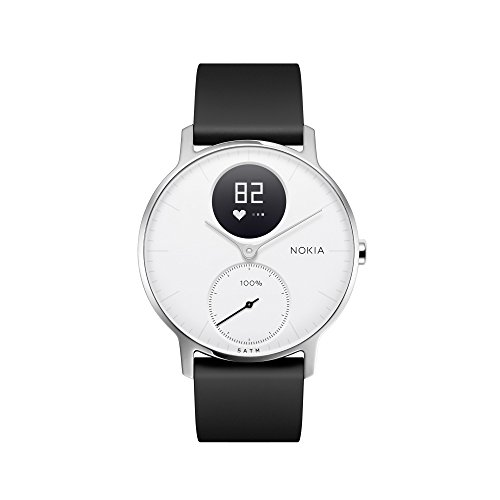 Nokia Steel HR Hybrid Smartwatch – Heart Rate & Activity Tracking Watch, White, 36mm, up to 25 Days long-lasting Battery Life, Swim Proof with Soft Silicone Interchangeable Wristbands $152.94