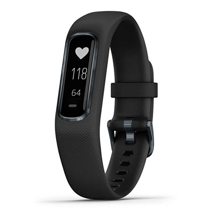 Garmin vívosmart 4, Activity and Fitness Tracker w/Pulse Ox and Heart Rate Monitor, Midnight w/Black Band, Large $94.90,free shipping
