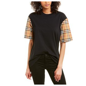 Burberry Vintage Check Detail T-Shirt