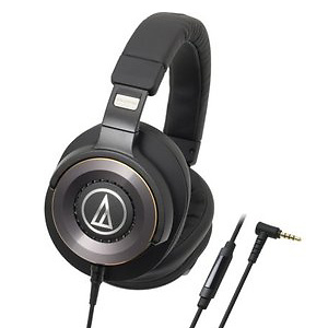 Audio-Technica ATH-WS1100iS Solid Bass Over-Ear Headphones w/ In-line Mic