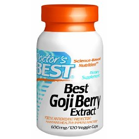 Doctors Best, Best Goji Berry Extract 600mg, Vegetable Capsules, 120-Count