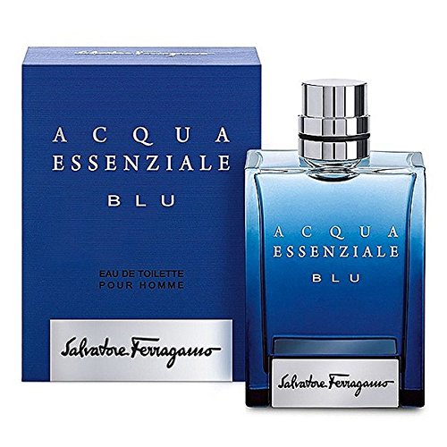 Salvatore Ferragamo Acqua Essenziale Blu Eau de Toilette Spray for Men, 3.4 Ounce