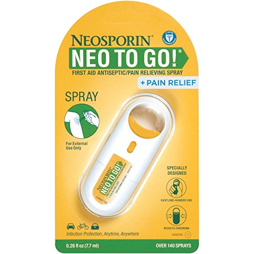 Neosporin + Pain Relief Neo To Go! First Aid Antiseptic/Pain Relieving Spray, .26 Oz