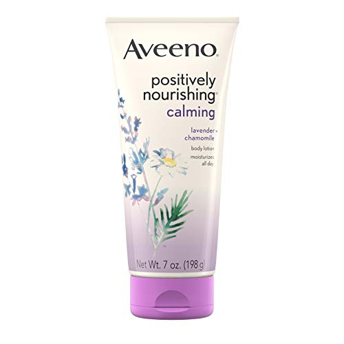 Aveeno Positively Nourishing Calming Body Lotion with Lavender, Chamomile, Soothing Oatmeal & Shea Butter, Daily Moisturizing Lotion for All-Day Hydration & Dry Skin Relief, 7 oz $5.42