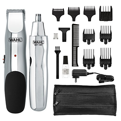 Wahl Model 5622Groomsman Rechargeable Beard, Mustache, Hair & Nose Hair Trimmer for Detailing & Grooming, Model 5623
