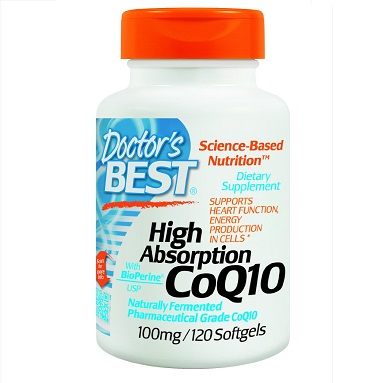 Doctor's Best High Absorption Coq10 w/ BioPerine (100 mg), 120 Soft gels