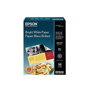 "Bright White Paper, 8.5"" x 11"", 500 sheets"