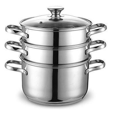 Cook N Home NC-00313 Double Boiler and Steamer Set, Stainless Steel $29.07