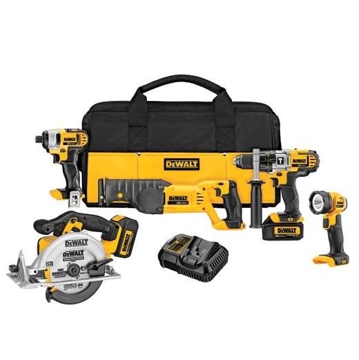 DEWALT 20V MAX Cordless Drill Combo Kit, 5-Tool (DCK592L2)