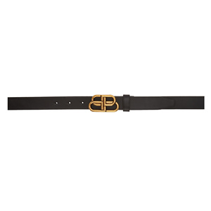 Balenciaga  Black Thin BB Belt