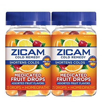 ZICAM Cold Remedy Medicated Fruit Drops, Assorted Fruit, 2 Count