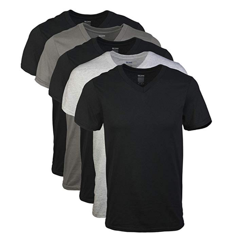 Gildan Men's Assorted V-Neck T-Shirts Multipack $9.00