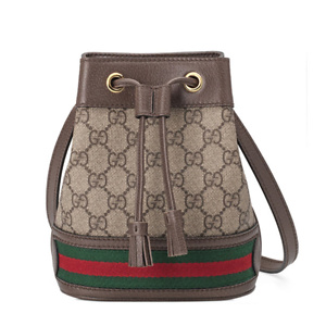 Gucci  Beige Mini GG Ophidia Bucket Bag