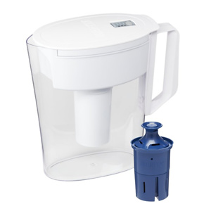 Brita Soho Water Filter Pitcher with Longlast Filter, 6 Cup - White