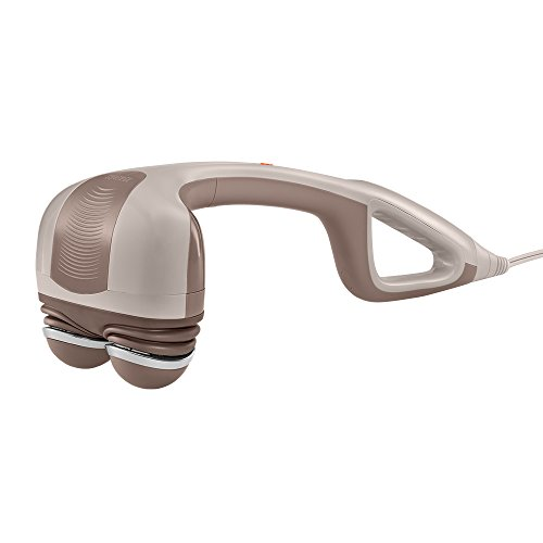 HoMedics Percussion Action Massager with Heat | Adjustable Intensity, Dual Pivoting Heads | 2 Sets Interchangeable Nodes,